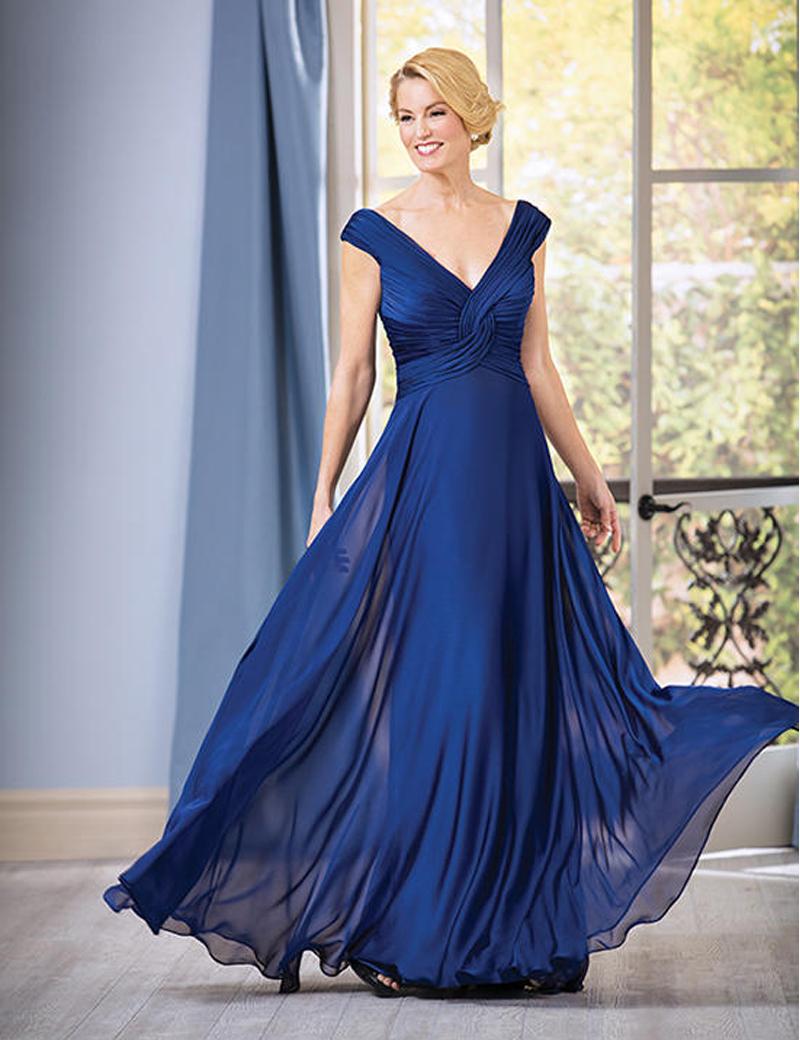 MBD107 Casual Chiffon Long Bridesmaid Dresses Blue Vestidos de Noite Longo Festa de Casamento Gromm Mother Gown(China (Mainland))