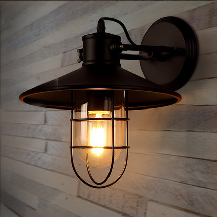 Eu warehouse free shipping e27 edison bulb black wall lamp - Lamparas de exterior led ...