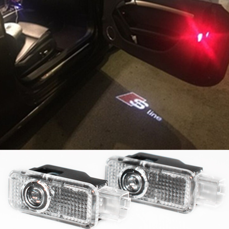 LED Door Warning Light With FOR AUDI Logo Projector For Audi A1 A3 A4 A5 A6 A7 A8 R8 Q3 Q5 Q7 TT 80 B5 B6 B7 B8 C5 C6 R8 A4L A6L(China (Mainland))