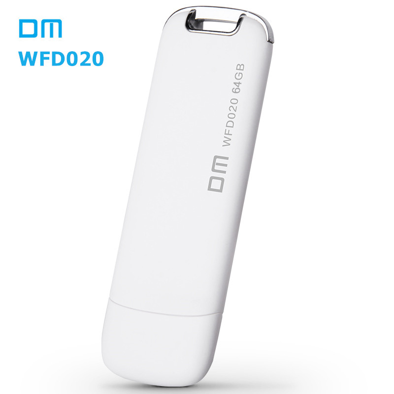 DM WFD020 Wireless USB Flash Drives 64GB WIFI For iPhone / Android / PC Smart Pen Drive Memory Usb Stick Multiplayer With Share(China (Mainland))