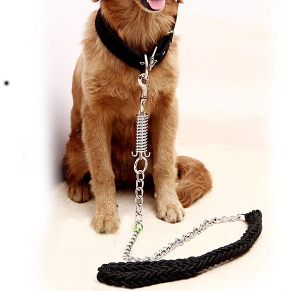 New Pet Products China Plait and Chain Stable Anti-Bitten Cool Big Dog Leashes Alaska Retriver All Sesons Godlren Labrado Leash(China (Mainland))