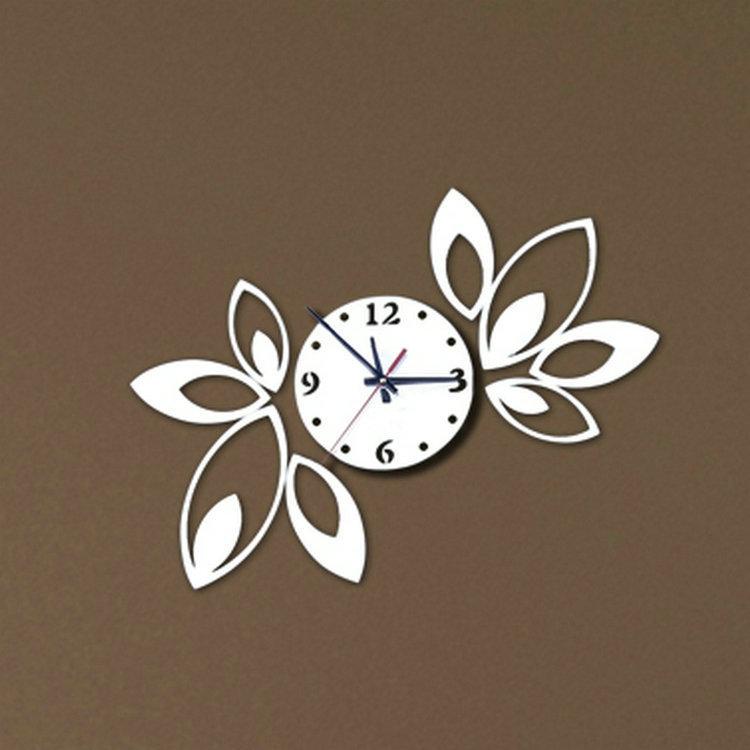 Silver 3D Big flower Wall Clock Modern Design Luxury Mirror Crystal Clocks - Topsellstore store