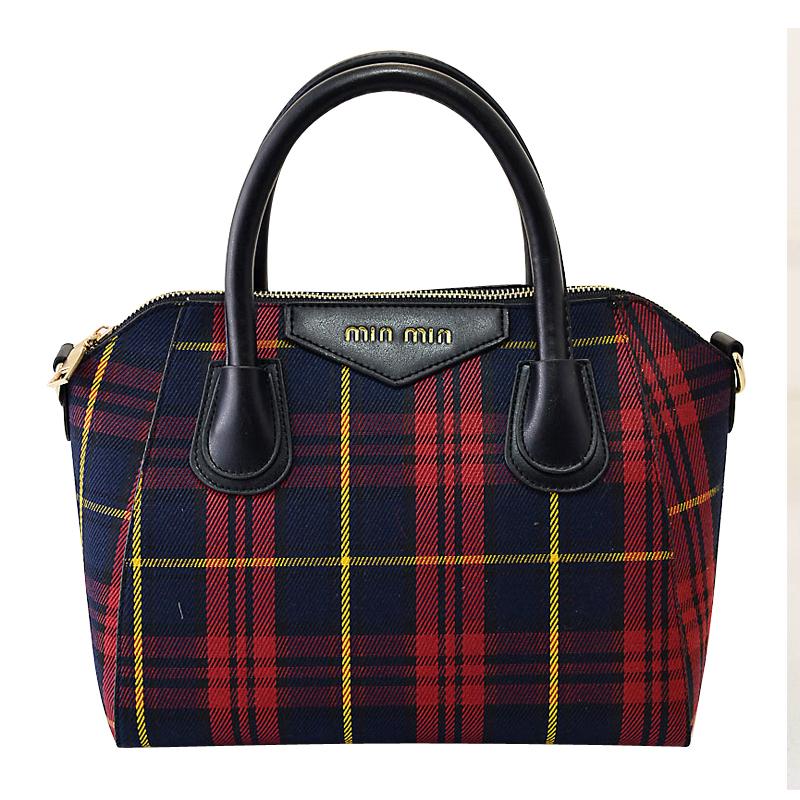 Women The soft Handbags Youth Plaid Square Horizontal paragraph Messenger Bag Zipper Fashion Denim Shoulder Shell Bags<br><br>Aliexpress