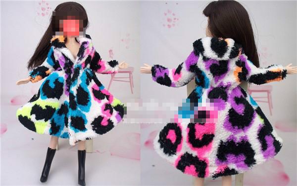 Xmas present for women Winter Handmade Fairly prime quality Coat fur Windbreaker High Garments For Barbie 1:6 Doll BBI00164