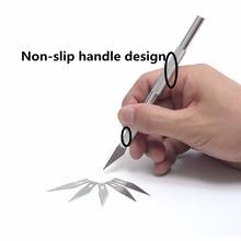 Non-Slip Metal Scalpel Knife Tools Kit Cutter Engraving Craft knives + 6 pcs Blade Mobile Phone Laptop PCB DIY Repair  Tools(China (Mainland))