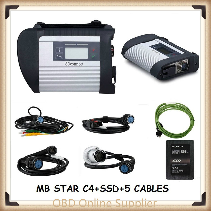 MB Star C4 SD Connect Star Diagnosis Xentry DAS System Compact 4 Multiplexer For Mercedes Benz Diagnostic Tool with ssd Software(China (Mainland))