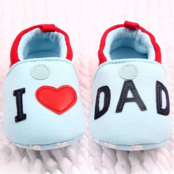 Гаджет  2015 Hot Sale Lovely Toddler Baby Girl Boy Round Toe Flats Soft Slippers Shoes I Love MOM/DAD Free Shipping None Детские товары