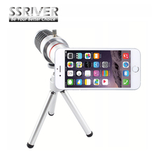 """Buy SSRIVER 12X Optical Zoom Telescope Camera Lens+Tripod +Back Case Cover Phone 12X Zoom Lens iPhone 6 4.7"""" for $18.26 in AliExpress store"""