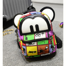 Wholesale Canvas Bag Backpack School for Teenager Girl mini shoulder bag multifunctional backpack cute mochila fashion DL1737(China (Mainland))