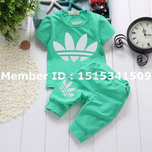 2016 Summer Newborn Baby Boys Girls Clothing Set Children T-shirt + Striped Shorts 2 PCS Bebes Suits For 0-24 Month Baby Wear
