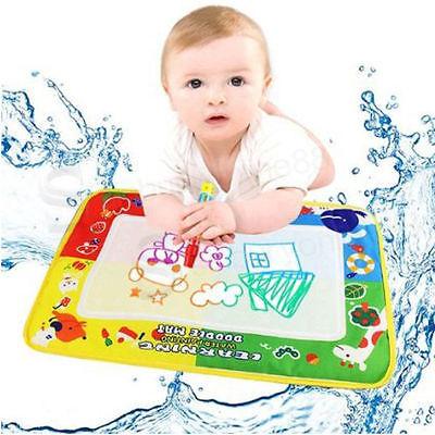 29X19cm 4 color Mini Water Drawing Mat Aquadoodle Mat&1 Magic Pen/Water Drawing board/baby play mat Free shipping(China (Mainland))