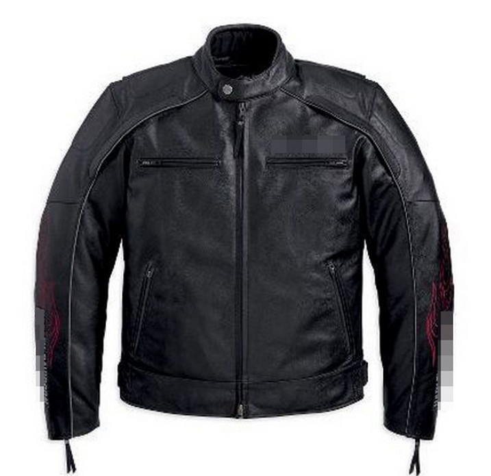Free shipping ! ! ! Increase men's casual fashion warm clothing motorcycle racing suits Genuine Leather Jacket , (232) S-2XL(China (Mainland))