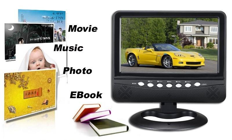 Grade A 800*480 9inch TFT LED TV Portable Mini Television Build In TV(China (Mainland))