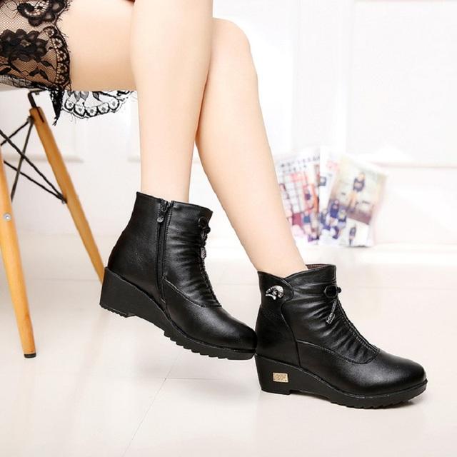 2016 новинка обувь мама обувь склон с толстыми теплых хлопка сапоги пожилых среднего ...