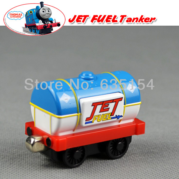 Free Shipping Brand New Thomas & Friend The Tank Engine Take Along Diecast Train Blue & White JET FUEL Tanker Loose In Stock(China (Mainland))