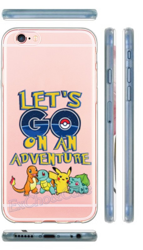 New Arrival Hard Plastic Phone Cases Pokemons Go Pokeball Transparent Clear Case Cover for Apple iPhone 5 5s 6 6s Plus SE