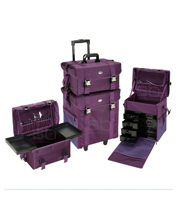 Polaiao cosmetics oxford fabric multi-layer trolley professional make-up cosmetic Large