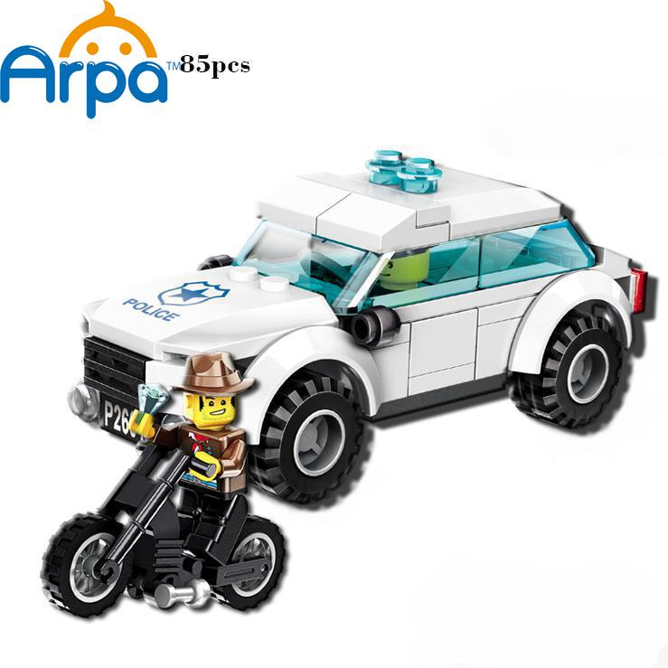 Arpa Lego Compatible Police Chasing Robbers Gangsters Model Building Blocks Toy for Boys(China (Mainland))