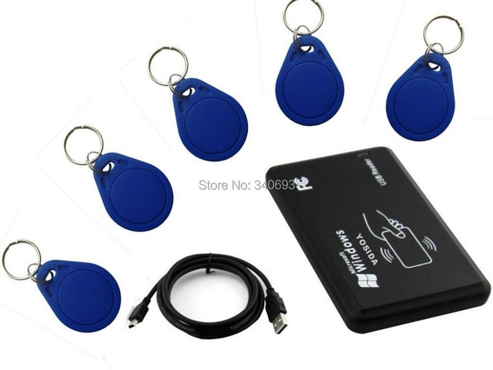 125khz RFID ID EM Card Reader & Writer&Copier/Duplicater Access Control Plug play +5577 Keychains - KingGo Controller store