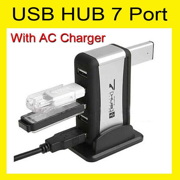 USB разветвитель OEM 7/7 USB 2.0 + + LED 7 port HUB