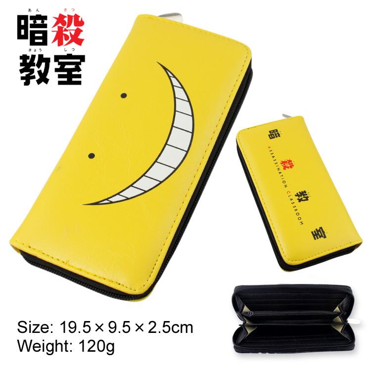 Anime Assassination Classroom colorful long style PU wallet printed w/Korosensei w/zipper Type C(China (Mainland))