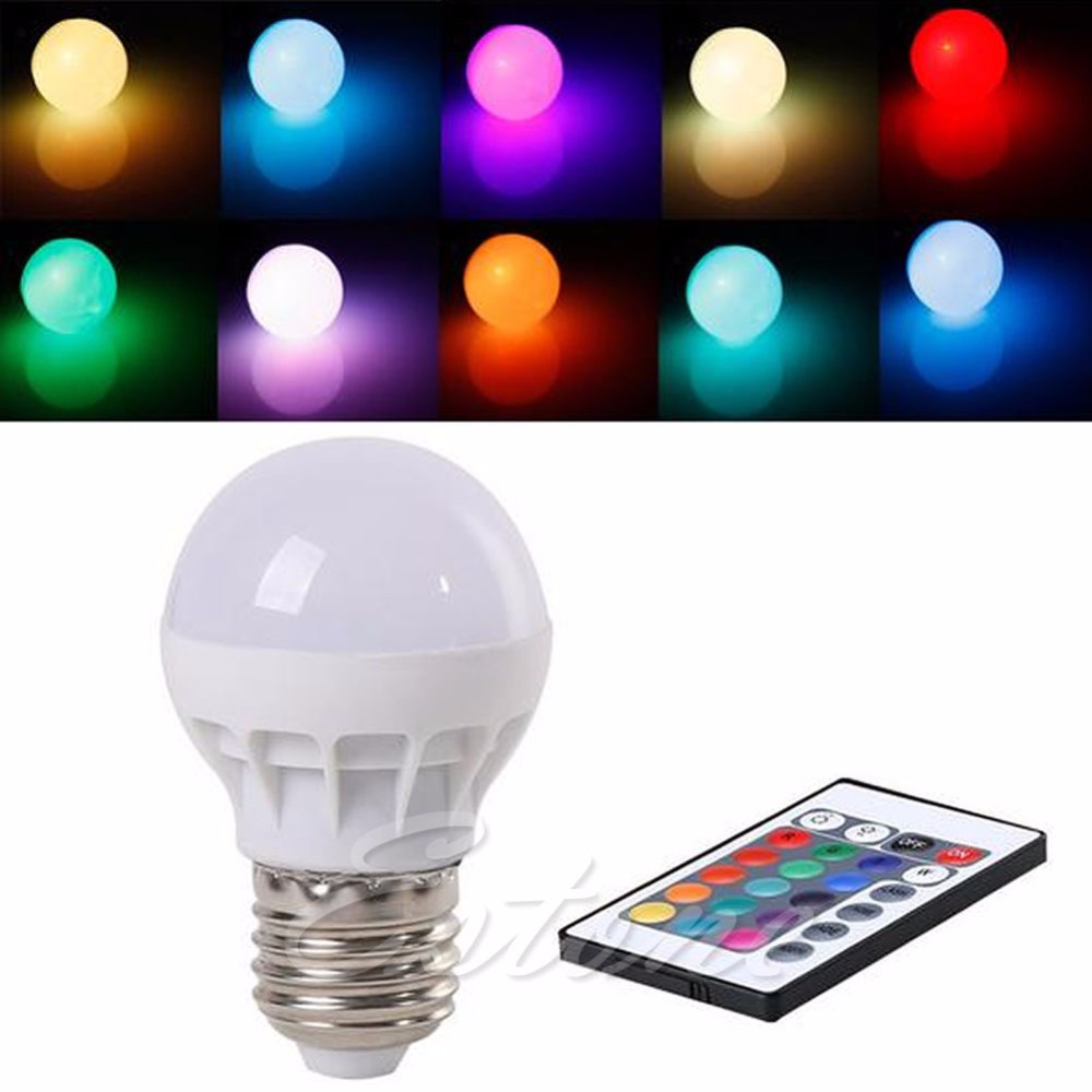 rgb led light bulb lamp color changing ir remote control sales in led. Black Bedroom Furniture Sets. Home Design Ideas