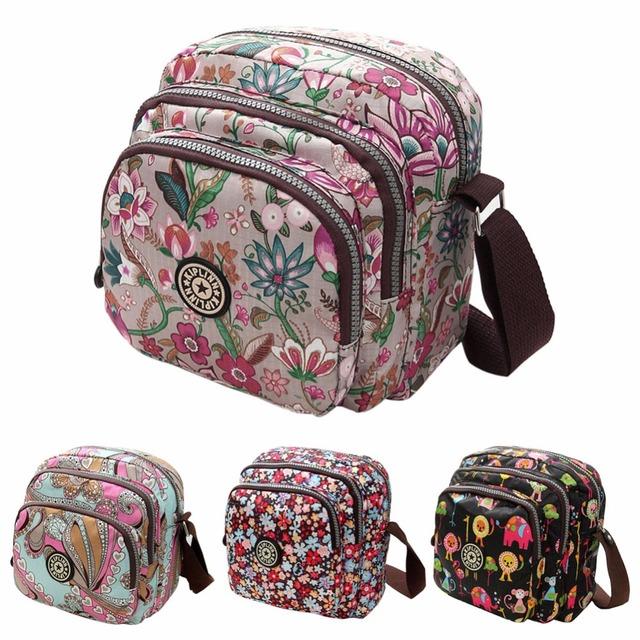 2016 новинка лето женщины сумки холсте-цветок печать кроссбоди сумки на ремне маленькие дамы дизайнер мама сумки
