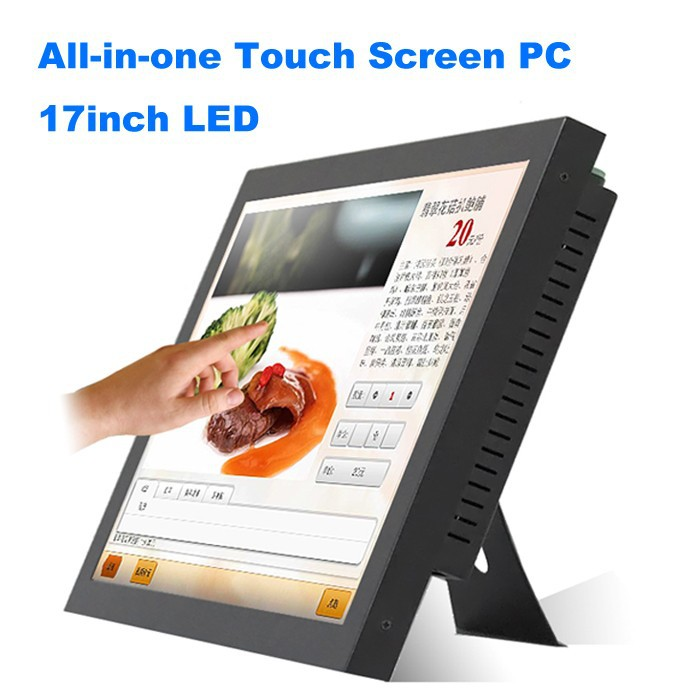 """Industrial Touch Screen Panel PC 17"""" Industrial Monitor LED AMD N330 Motherboard POS System All in One PC with HDMI COM(China (Mainland))"""
