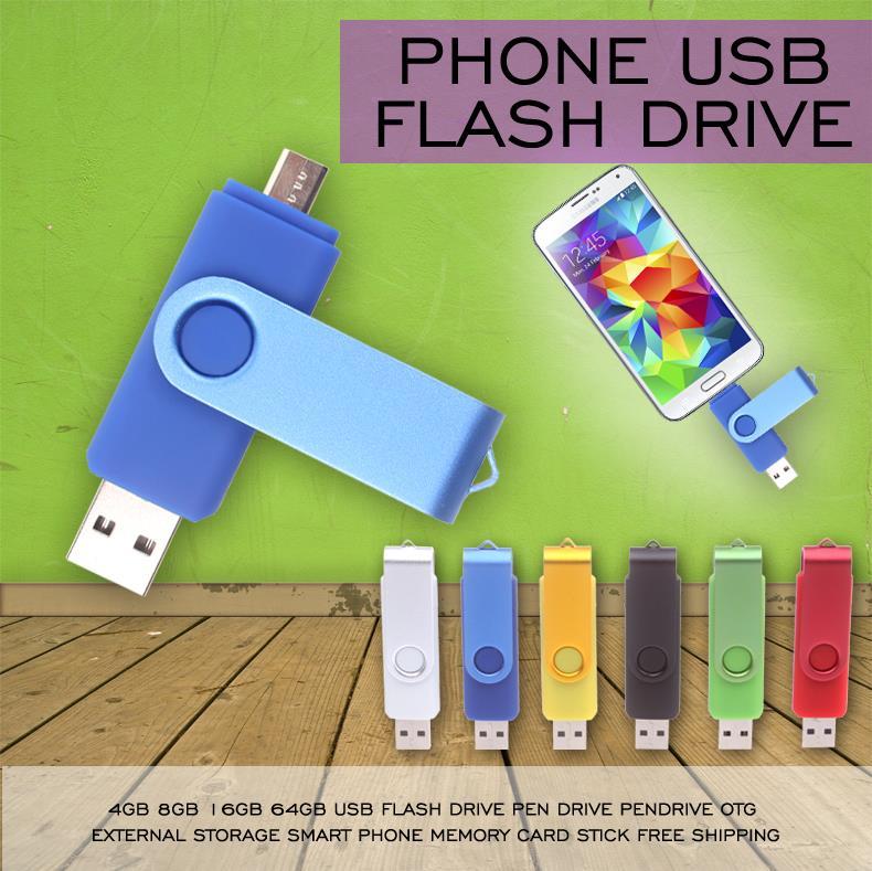 USB Flash Drive Smart phone Pen Drive 32GB OTG USB Pendrive external Rotation Flash Memoria USB Stick Drive 16GB 8GB 4GB(China (Mainland))