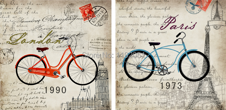 w wholesale bicycle canvas art