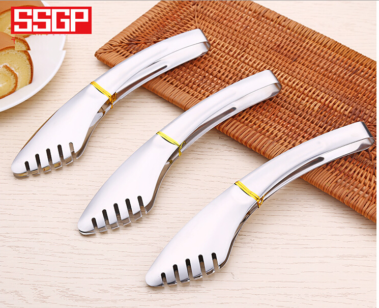 Hight Quality Stainless Steel Barbecue Clip Bread Steak Clips Anti-hot Thickening BBQ Tools(China (Mainland))