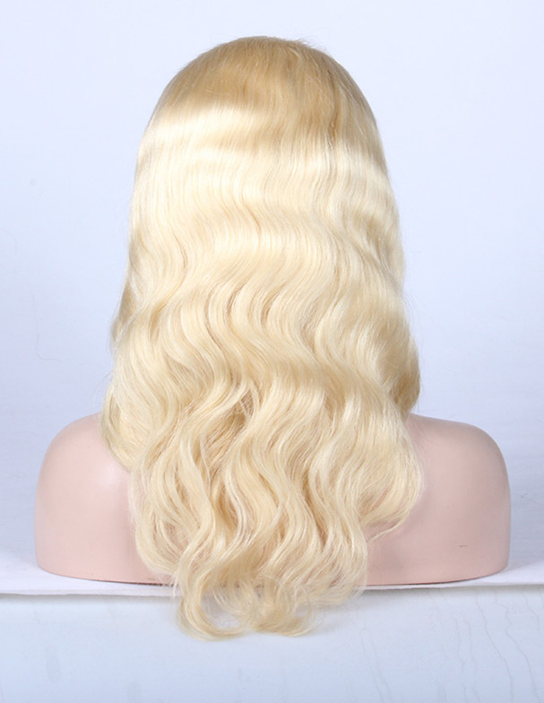 Platinum Blonde 613# White Women Wigs, 7A Grade Brazilian Virgin Hair Body Wave Glueless Full Lace Human Hair Wigs &amp; Front Wigs<br><br>Aliexpress