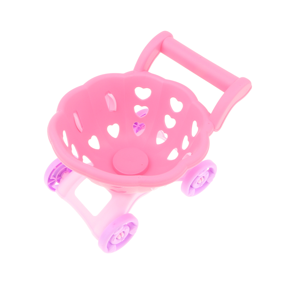 Electronic Cash Register Toy W/ Mic Speaker & Scanner, w/ Shopping Cart + Play Food Pretend Play Supermarket Cashier Game Props