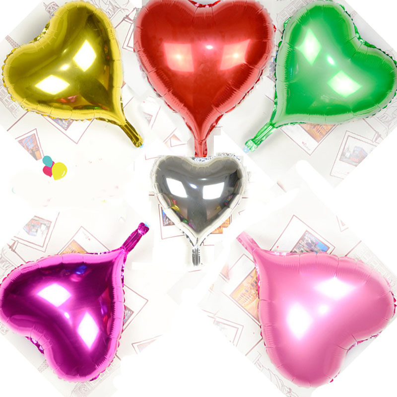 10pcs/lot 18inch Foil Heart Love Shape Balloon Birthday Party Wedding Air Balloons Decoration Helium Marriage Balloon B204(China (Mainland))