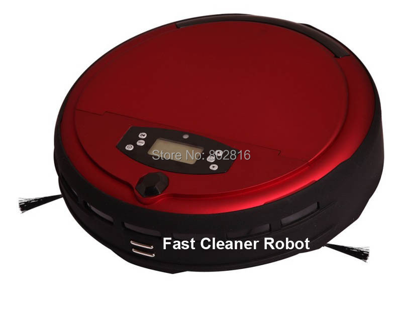 Newest Voice Function/Wet Mop Intelligent Vacuum Cleaner With Two Side Brush(China (Mainland))