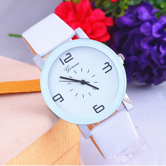 Гаджет  HOT 2014 new fashion belt minimalist Digital Women Dress Watch GENEVA watches men None Часы