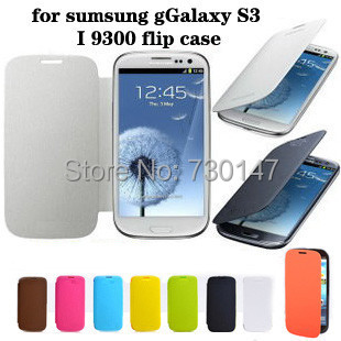 Battery Housing Flip PU Leather Back Case Cover Samsung Galaxy S3 SIII S 3 i9300 9300 - SHENZHEN KAYKAY TRADE CO., LTD store