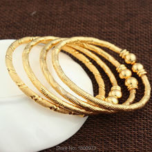 2016 New Dubai Gold Baby Bangle Jewelry For Boys Girls18K Gold Plated Ethiopian Kids Bangles Bracelet Jewelry(China (Mainland))