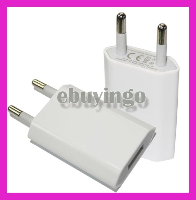 10X EU Plug Power USB Home/Travel Wall Charger Adapter For ipod for iPhone 5 5s 4 4S 6 6plus ,Charger Adapter for Various Phone
