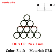 Buy 10pcs/lot NBR 24.0x22.0x1.0 mm OD x ID x CS O-rings O Ring Oring hydrocarbons oils gasoline esters for $1.23 in AliExpress store