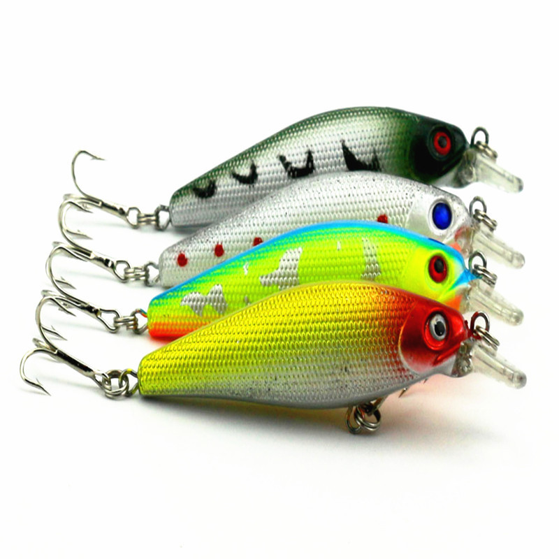 10pcs/lot HENGJIA new hot brand 8.5cm Hard Bass bait fishing Minnow bionic Hard Bass 10.3G environmental protection(China (Mainland))