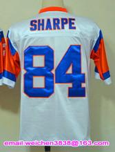 Fast Shipping Retro Jersey Shannon Sharpe John Elway Steve Atwater Terrell Davis Peyton Manning Jerseys #18 #84 #7 #30 #27(China (Mainland))