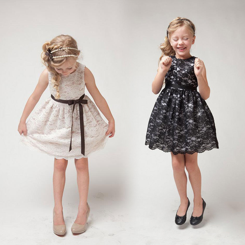 2015 Lace cute children clothes girls beautiful lace dress quality baby girls dress teenager kids dress for age 2-8(China (Mainland))