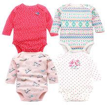 4 шт./партия, Мягкое хлопковое боди с длинным рукавом для малышей, комплект одежды для новорожденных, Рождественская Одежда для маленьких де...(China)