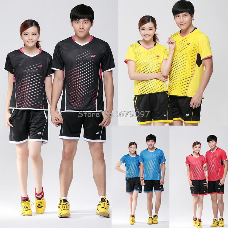 2015 NEW YY badminton sport suit, badminton T shirt, Men's and Women's badminton shirt, Table tennis clothing, 4 colors(China (Mainland))