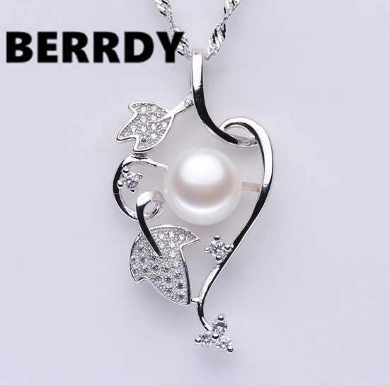 4 color Real Freshwater Pearl Pendant Necklace Nice Quality Exquiste Hot Unique Necklace for Lady Nice Gift(China (Mainland))