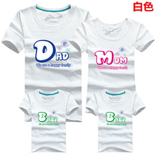 8 colors Letter Dad Mom Baby Printed Family Matching Outfits Women Men Children Boys Girls T shirts Clothes Korean Baby Garment