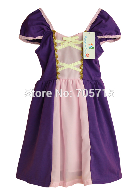 2015 Summer New Arrival girls Rapunzel princess dress, summer sling ...