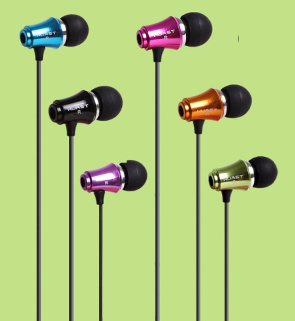 Brand Sale 7 Color Metal 3.5mm Stereo Bass earphone Headphone Headset for your mobile Phone Samsung MP3 MP4 Player(China (Mainland))