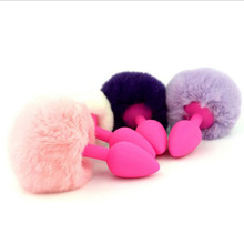 Buy Small Silicone Anal Butt Plug Rabbit Tail G-spot Stimulator S&M Sex Toys Women Fetish RolePlay Adult Games Sex Products